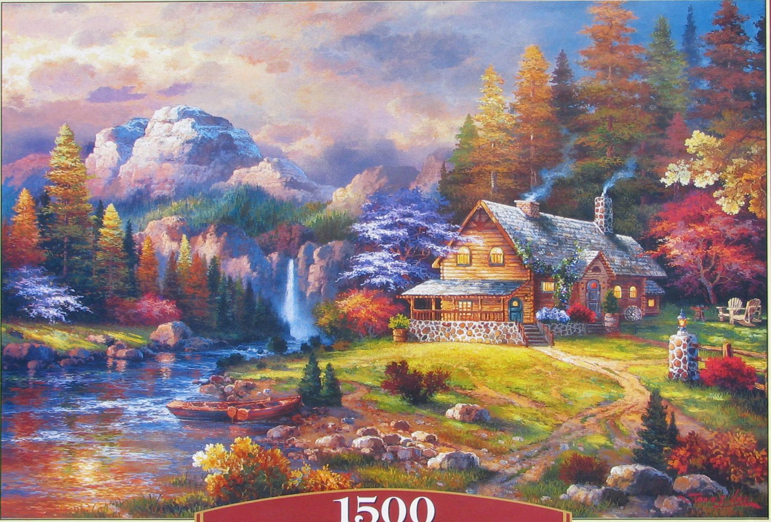 Castorland MOUNTAIN HIDEAWAY 1500 pc Jigsaw Puzzle