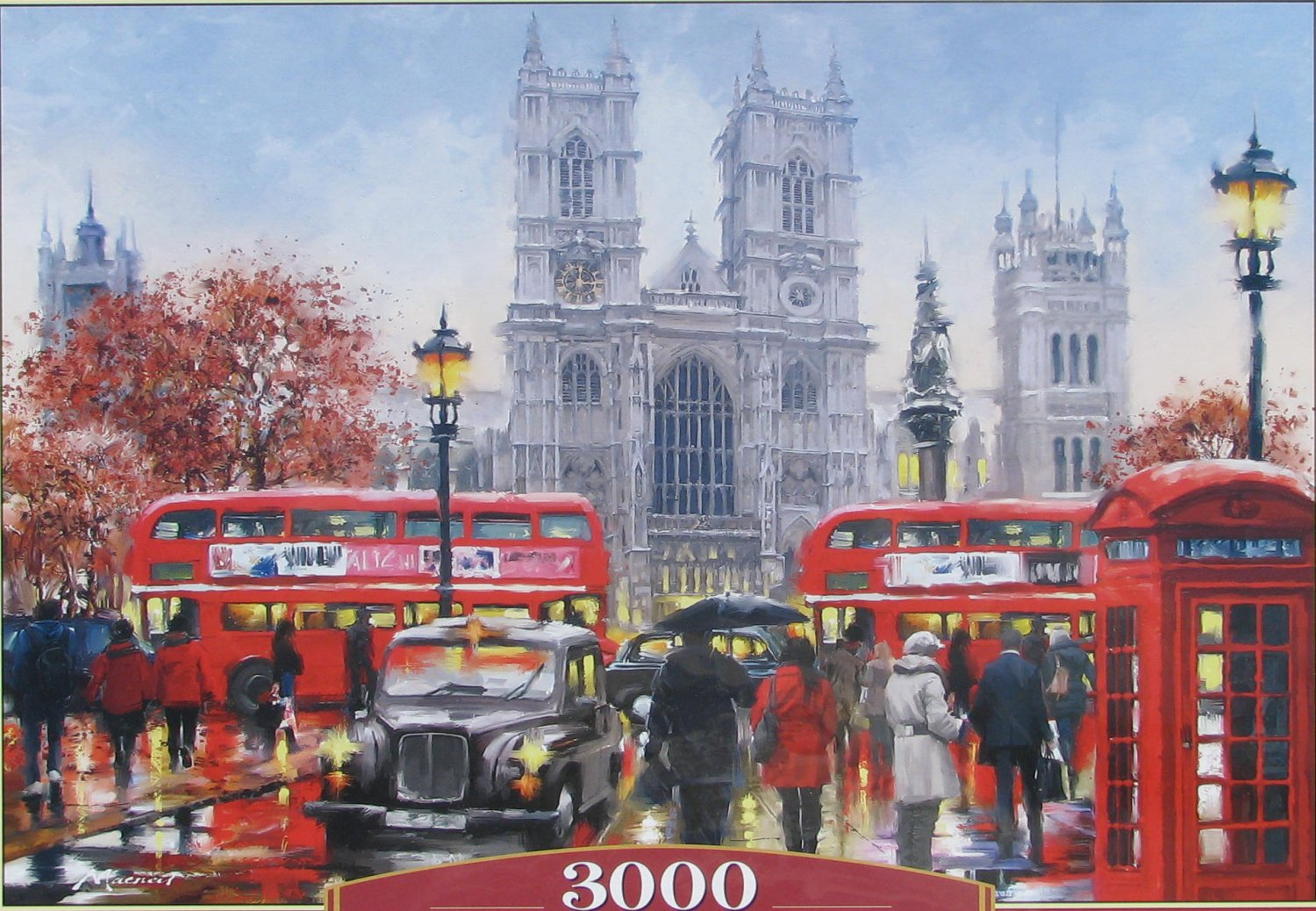 Castorland WESTMINSTER ABBEY 3000 pc Jigsaw Puzzle New