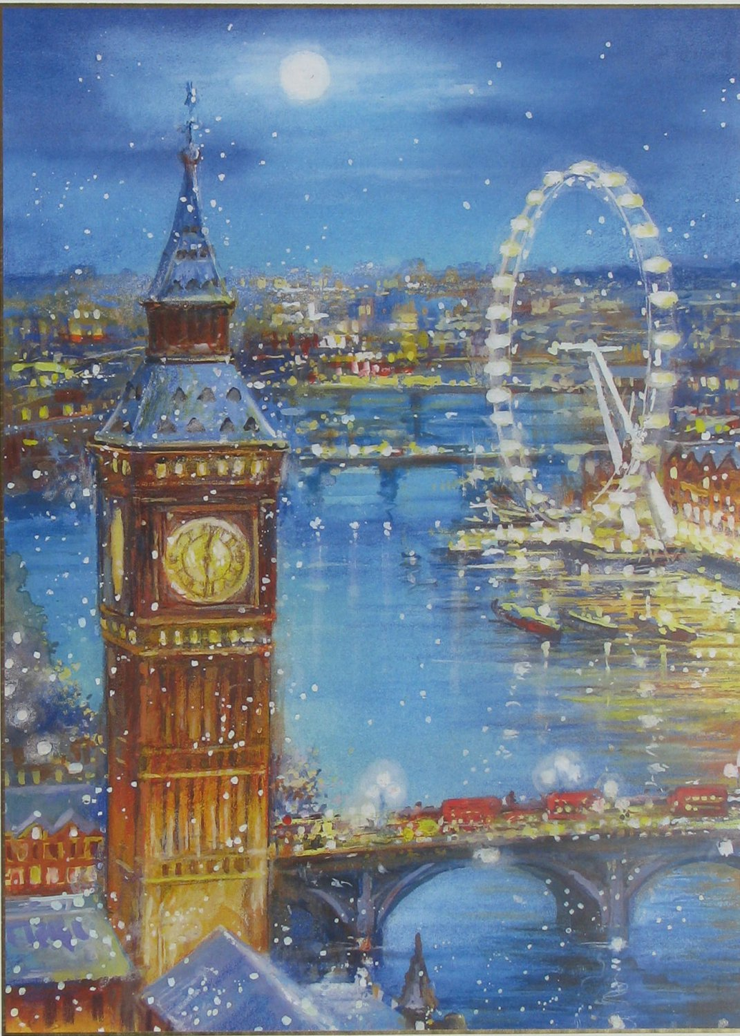 Clemontoni SNOW FLAKES ON THE BIG BEN 1000 pc Jigsaw Puzzle
