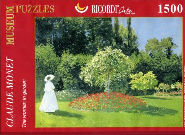 Ricordi Monet THE WOMAN IN A GARDEN 1500 pc Jigsaw Puzzle