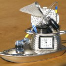 Sanis FISHING BOAT Desk Clock Executive Toy