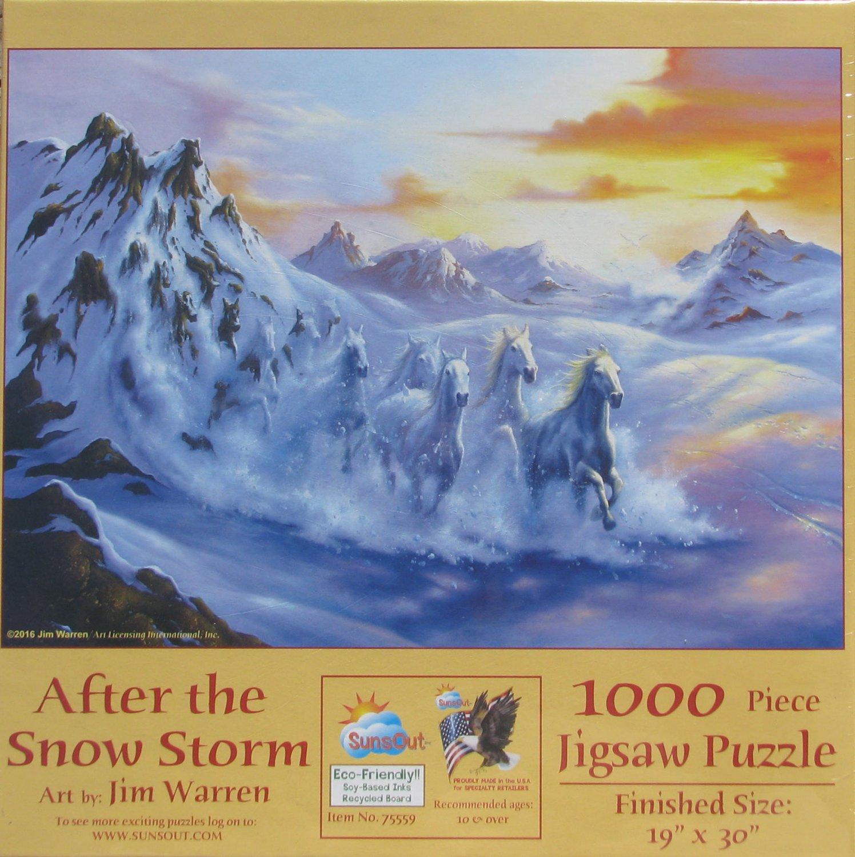 SunsOut AFTER THE SNOW STORM 1000 pc Jigsaw Puzzle Jim Warren