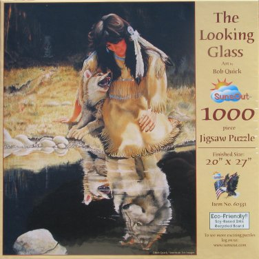 SunsOut THE LOOKING GLASS 1000 pc Jigsaw Puzzle Bob Quick