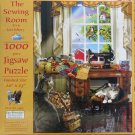 SunsOut THE SEWING ROOM 1000 pc Jigsaw Puzzle Lori Schory Cats