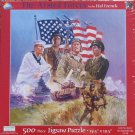 SunsOut Hal Frenck THE ARMED FORCES 500 pc Jigsaw Puzzle Army Navy Marines Air Force