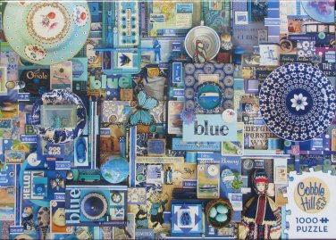 Cobble Hill BLUE 1000 pc Jigsaw Puzzle Shelley Davies