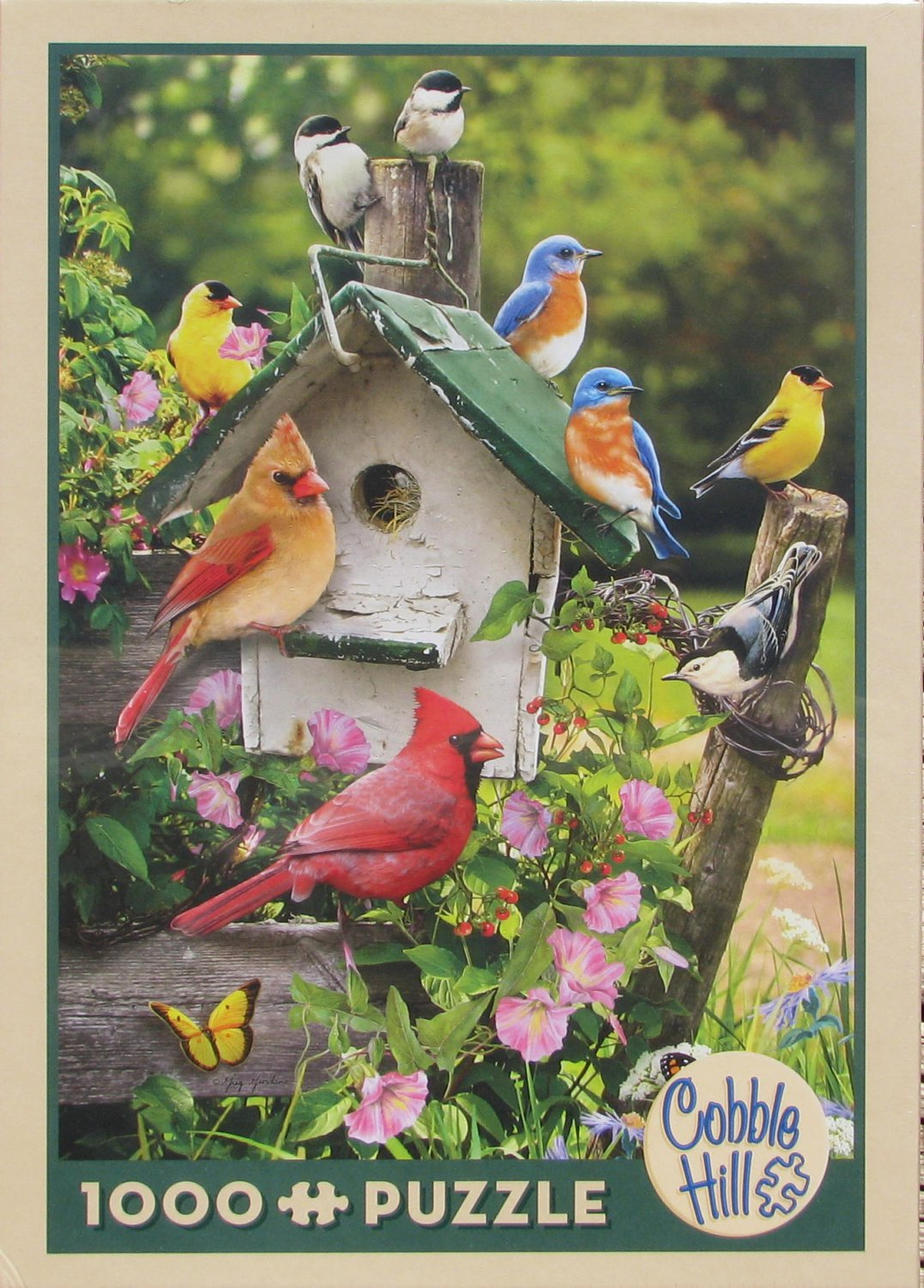 Cobble Hill SUMMER BIRDHOUSE 1000 pc Jigsaw Puzzle