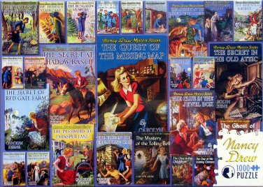 Cobble Hill VINTAGE NANCY DREW MYSTERIES 1-26 1000 pc Jigsaw Puzzle Original Book Covers