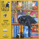 SunsOut Chrissie Snelling ON THE SHELF 1000 pc Jigsaw Puzzle Cat