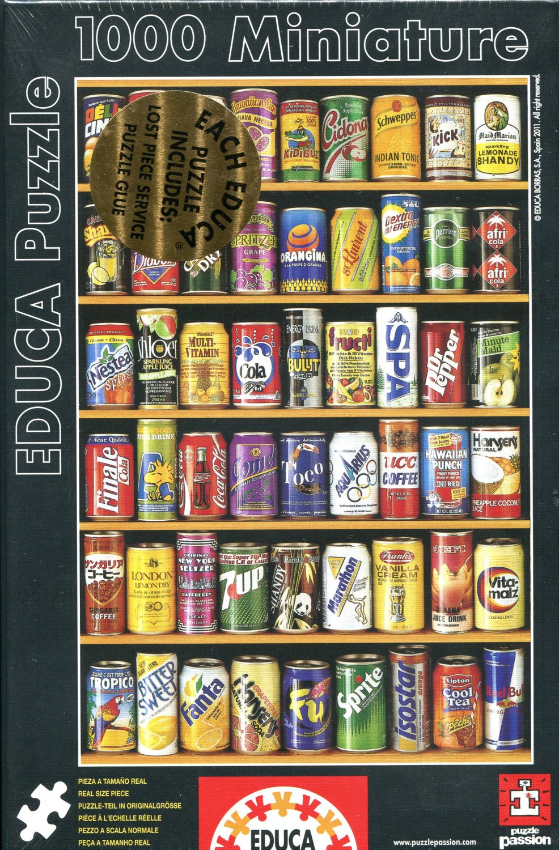 Educa CANS 1000 pc Miniature Jigsaw Puzzle Soda Pop