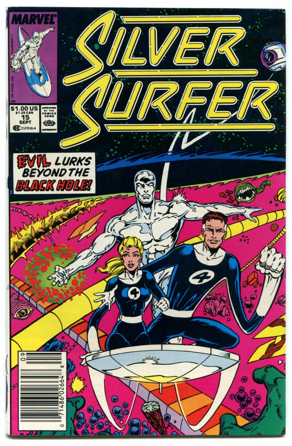 Silver Surfer 15 NM- 9.2 Fantastic Four Marvel Comics 1988