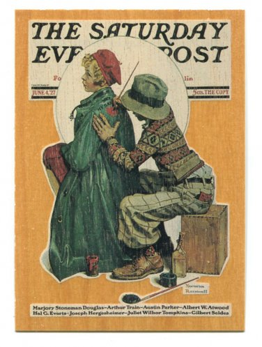 Norman Rockwell THE ARTIST Wood Grain Chase Card W1 Comic Images 1993