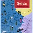 American Geographical Society BOLIVIA 1959 Around the World Program Very Good