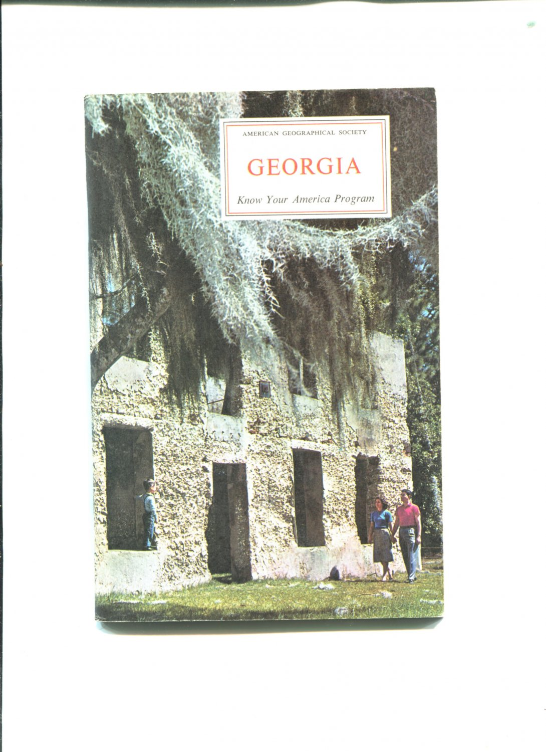 American Geographical Society GEORGIA 1965 Know Your America Program Very Good