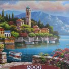 Castorland VILLAGE CLOCK TOWER 2000 pc Jigsaw Puzzle Landscape New