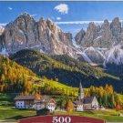 Castorland SANTA MADDELENA IN VAL DI FUNES ITALY 500 pc Jigsaw Puzzle Alps Dolomites Landscape New
