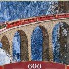 Castorland LANDWASSER VIADUCT SWISS ALPS 600 pc Panorama Jigsaw Puzzle Train Landscape