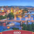 Castorland PRAGUE AT NIGHT 600 pc Panorama Jigsaw Puzzle City Skyline