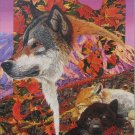 RoseArt ALASKA DREAMING 750 pc Jigsaw Puzzle Wolf Autumn