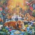 Clemontoni MYSTIC TIGERS 1000 pc Jigsaw Puzzle Buddha Jungle