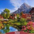 Castorland KANDERSTEG SWITZERLAND 500 pc Jigsaw Puzzle Mountain Village