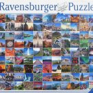 Ravensburger 99 BEAUTIFUL PLACES ON EARTH New 1000 pc Jigsaw Puzzle Poster Collage