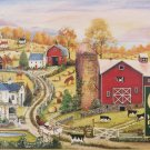 Cobble Hill LEADING THE WAY 1000 pc Jigsaw Puzzle New Mary Anne Vessey Barn Farm Cows Horses