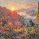 Cobble Hill Mark Keathley NEW DAY 500 pc Jigsaw Puzzle Autumn Sunrise Mama Bear and Cubs