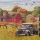 Cobble Hill SUMMER AFTERNOON ON THE FARM 1000 pc Jigsaw Puzzle Barn Horses Nostalgia