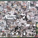 Cobble Hill BLACK AND WHITE ANIMALS 1000 pc Jigsaw Puzzle Shelley Davies Collage
