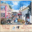 SunsOut SEACOVE VILLAGE 500 pc Jigsaw Puzzle Susan Brabeau New