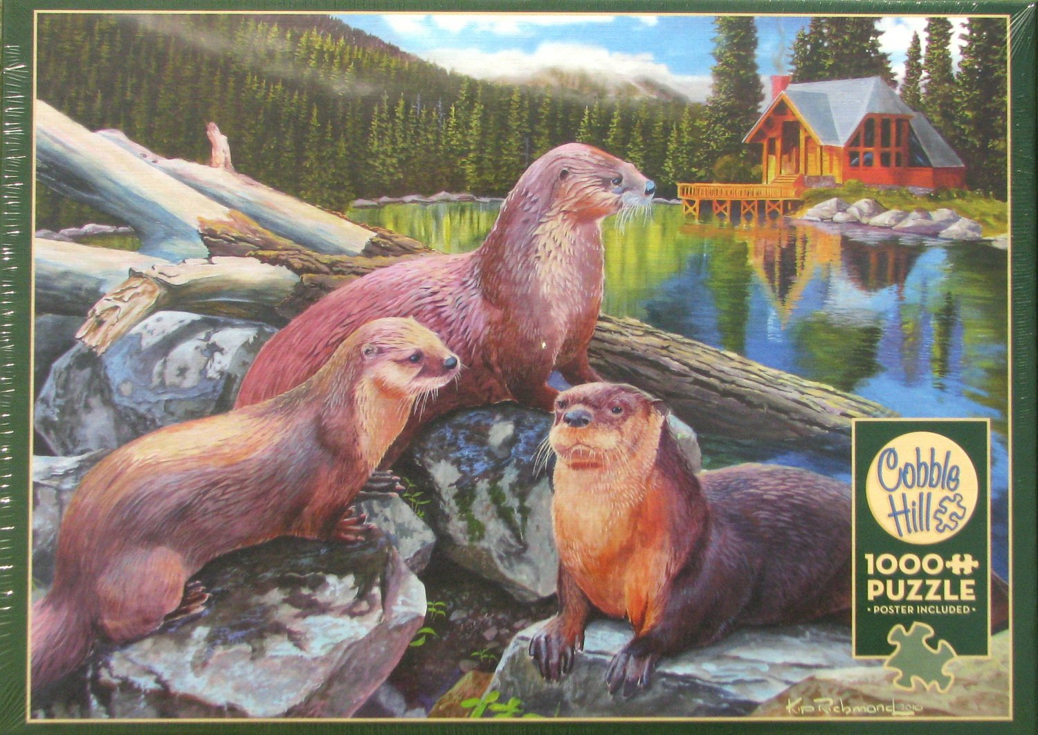 Cobble Hill River Otters 1000 pc Jigsaw Puzzle Animals