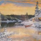 SunsOut CABIN ON THE RIVER 1000 pc Jigsaw Puzzle Winter Persis Clayton Weirs