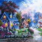 SunsOut Dennis Lewan BEARWELL LANE 1000 pc Jigsaw Puzzle Nostalgia Cozy Cottages