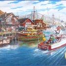Cobble Hill Ken Zylla Fishing Harbor 500 pc Jigsaw Puzzle Boats Marina