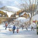 Cobble Hill Douglas Laird Hockey On Frozen Lake 1000 pc Jigsaw Puzzle