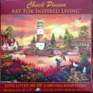 SunsOut Chuck Pinson LOVE LIFTED ME UP 1000 pc Jigsaw Puzzle Lighthouse Harbor