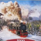 Castorland Steam Train 1000 pc Jigsaw Puzzle Landscape Winter