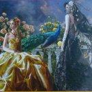 SunsOut Nene Thomas Pretty 1000 pc Jigsaw Puzzle Gothic Fantasy Fairies Peacock