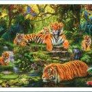 Pintoo Tiger 1000 pc Plastic Jigsaw Puzzle Step Puzzle Jungle Wildlife Animals