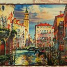 Step Puzzle Venice Before Sunset 1000 pc Panorama Jigsaw Puzzle Maria Rabinky Art