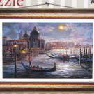Pintoo Evening in Venice 924 pc Décor Jigsaw Puzzle Plastic Pieces Italy Canal Frame Step Puzzles