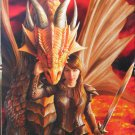 Clemontoni Anne Stokes Inner Strength 1000 pc Jigsaw Puzzle Fantasy Dragon Warrior