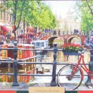 Castorland Amsterdam Landscape 1000 pc Jigsaw Puzzle Canals Bicycle