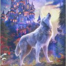 Castorland Wolf Castle 1000 pc Jigsaw Puzzle Evening Full Moon