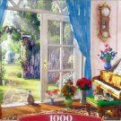 Castorland Doorway Room View 1000 pc Jigsaw Puzzle Cats Flowers