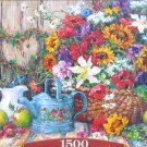 Castorland Fresh From The Garden 1500 pc Jigsaw Puzzle Flowers Still Life