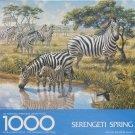 Springbok Serengeti Spring Used 1000 pc Jigsaw Puzzle Zebras