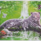 Step Puzzle At the Waterfall 1000 pc Panorama Jigsaw Puzzle Jungle Tiger