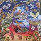 Cobble Hill Owl Magic 1000 pc Jigsaw Puzzle Rosaland Solomon Owls